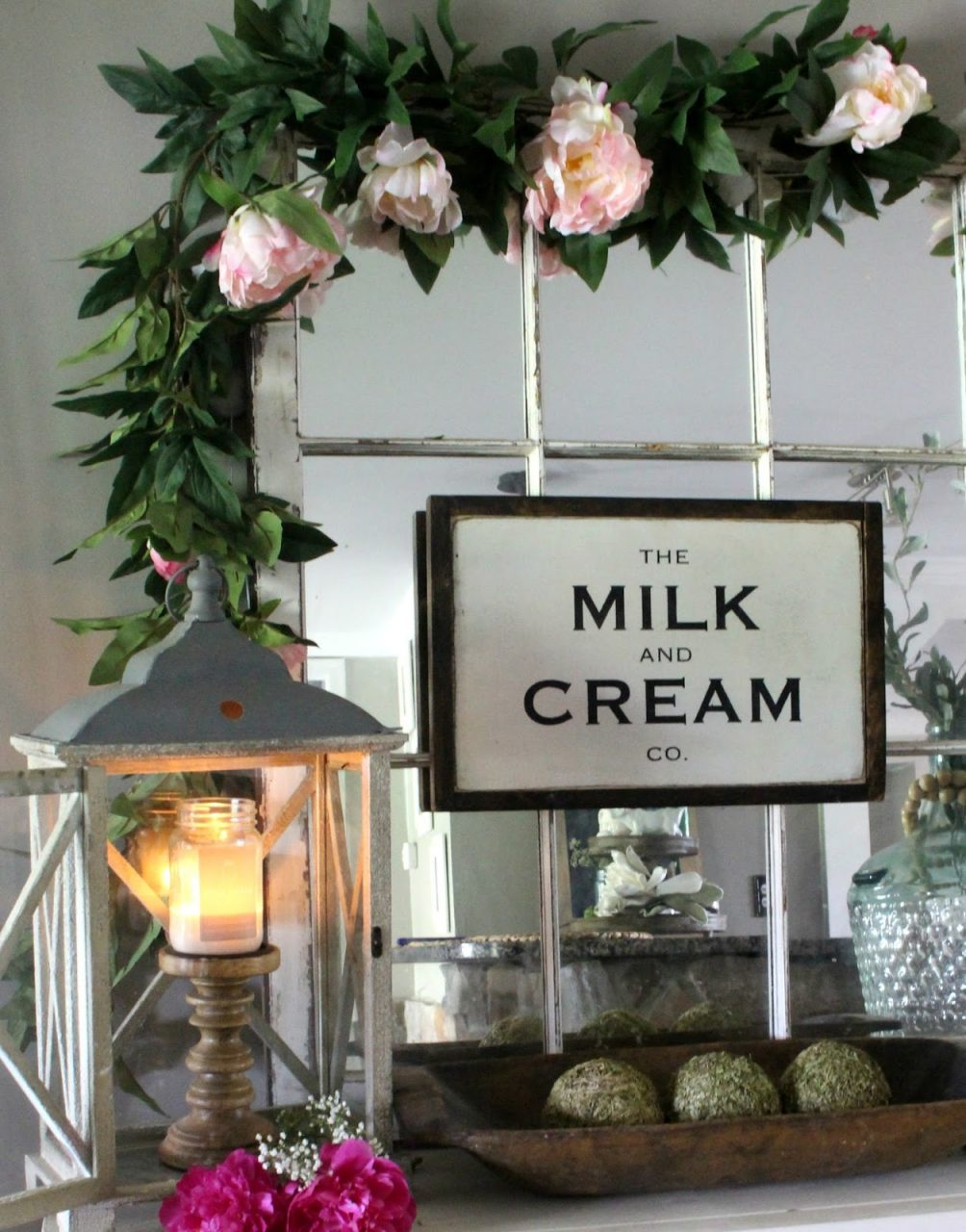 Late Spring Buffet Decor The Glam Farmhouse