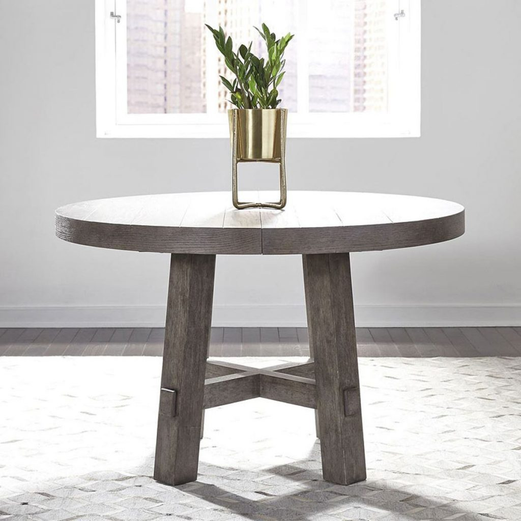Liberty Furniture Modern Farmhouse Round Dining Table In Dusty