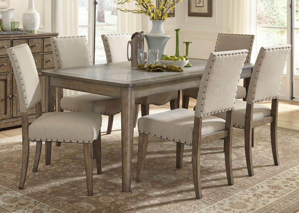 Liberty Furniture Weatherford Casual Rustic Piece Dining Table And