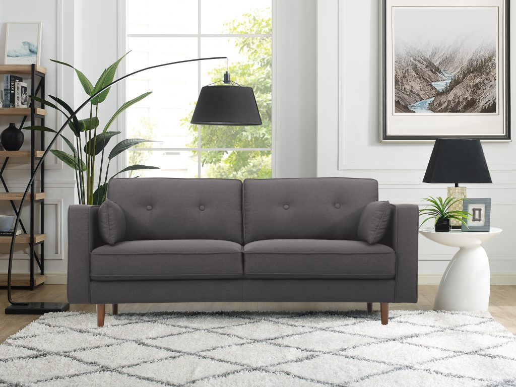 Lifestyle Solutions Tanany Mid Century Modern Design Upholstery