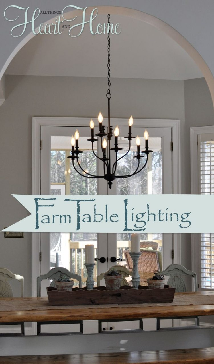 Lighting Over The Farmhouse Table The Winner Home Farmhouse
