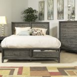 Ligna Soho 4 Piece Panel Storage Bedroom Set In Gray Wash