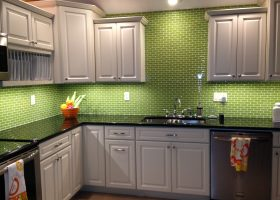Lime Green Kitchen Tile Backsplash