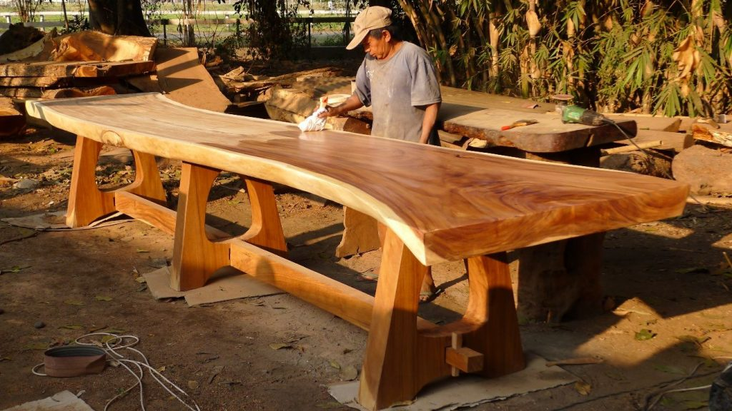 Live Edge Dinning Table A Legs 500 X 90 X 78 1470 Woodworking