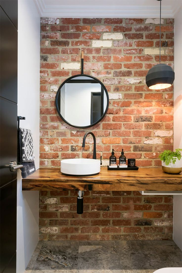 Love The Exposed Brickwork In This Bathroom Home Brick Bathroom