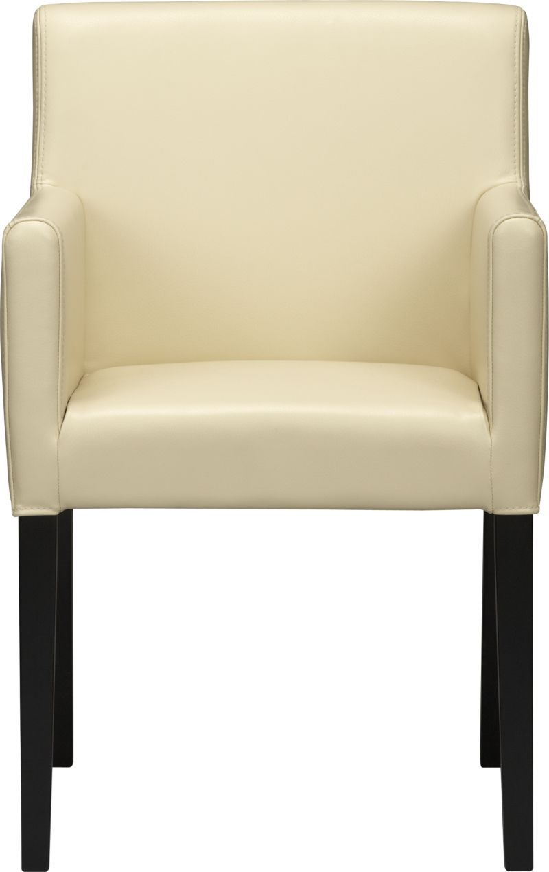 Lowe Ivory Leather Dining Arm Chair New House Furniture Chair