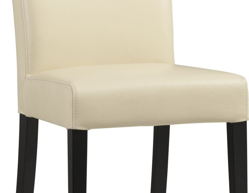 Lowe Ivory Leather Dining Chair Crate And Barrel Living Room