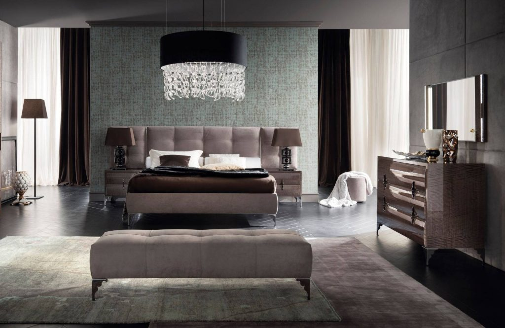 Made In Italy Leather Contemporary Master Bedroom Designs Las Vegas