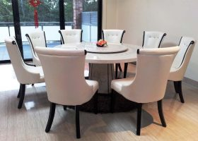 Round Marble Top Dining Room Table