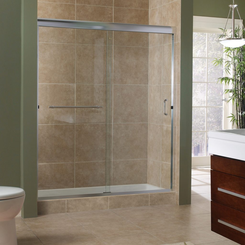 Marina Collection 38 Frameless Sliding Shower Doors Foremost Bath