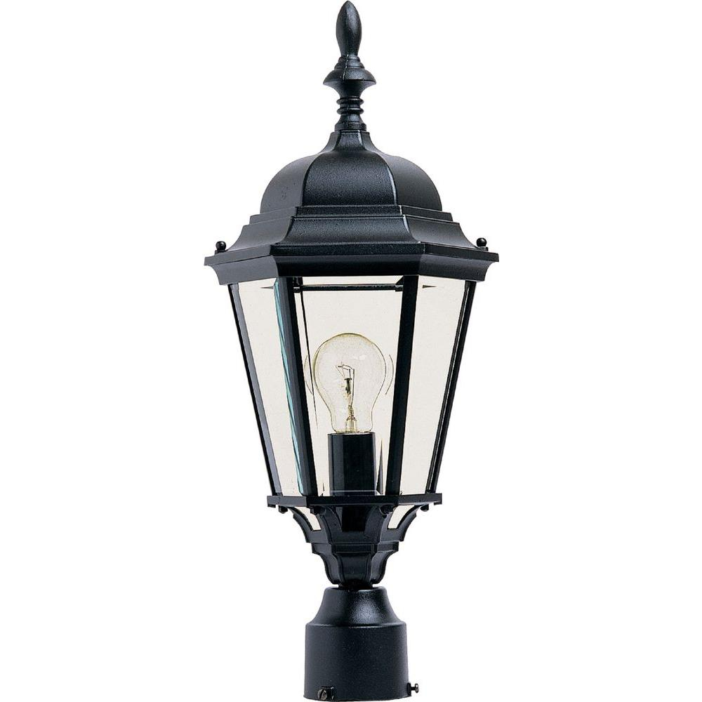 Maxim Lighting Westlake 1 Light Black Outdoor Polepost Mount 1005bk