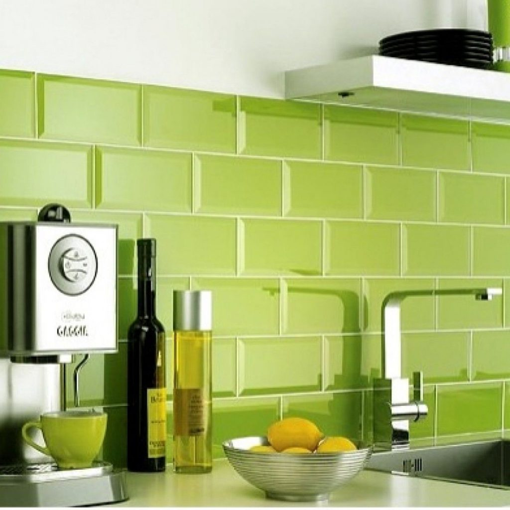Metro Lime Green Ceramic Wall Tiles In 2019 Kitchen Lime Green