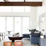 Mid Century Modern Living Room Beams