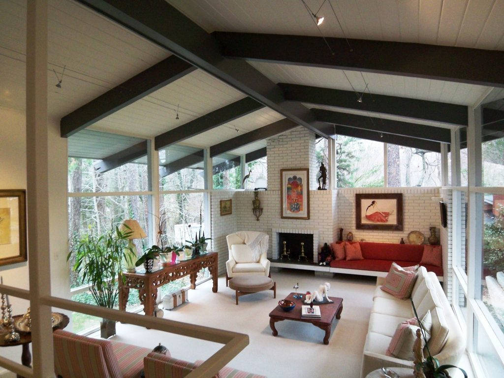 Midcentury Modern Ceiling Beams Modern Charlotte Nc Homes For