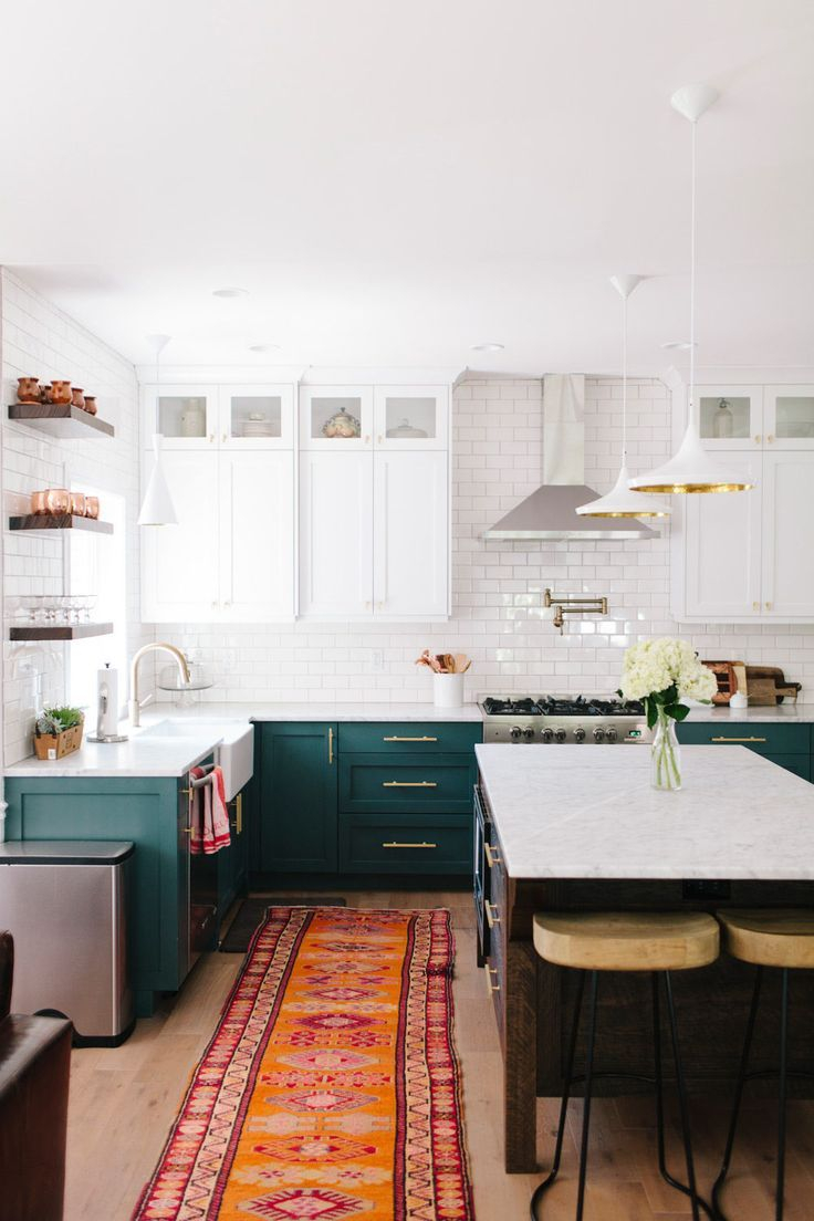 Mismatched Kitchen Cabinets Home Green Kitchen Cabinets Two