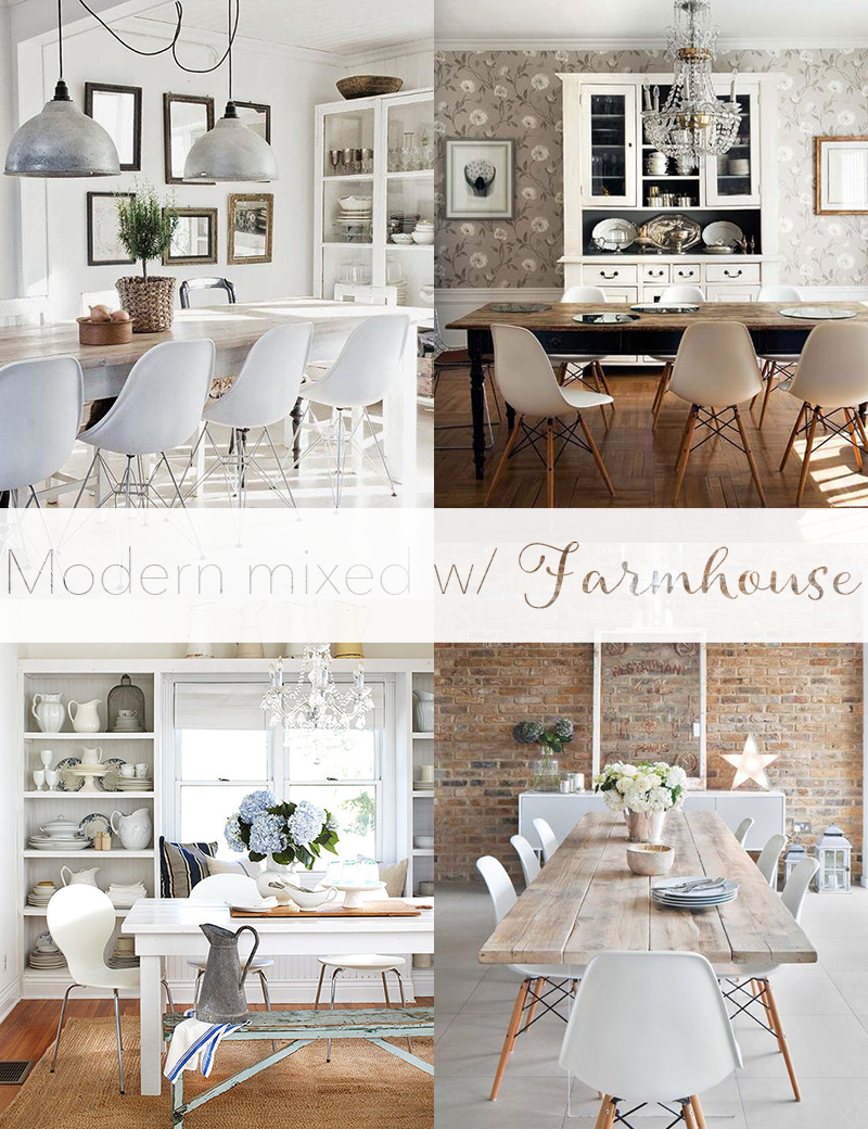 Mixing Modern Chairs W Farmhouse Dining Tables