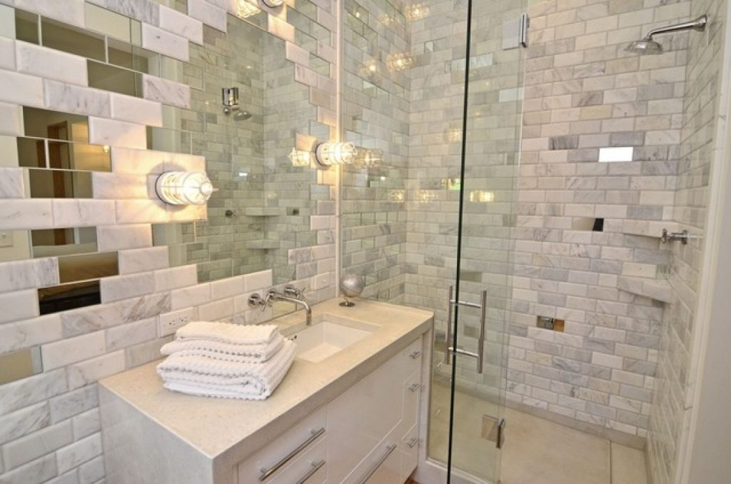 Modern Brick Wall Bathroom Designs Ideas For Your Inspirations Brick