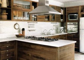 Stainless Steel and Wood Kitchen