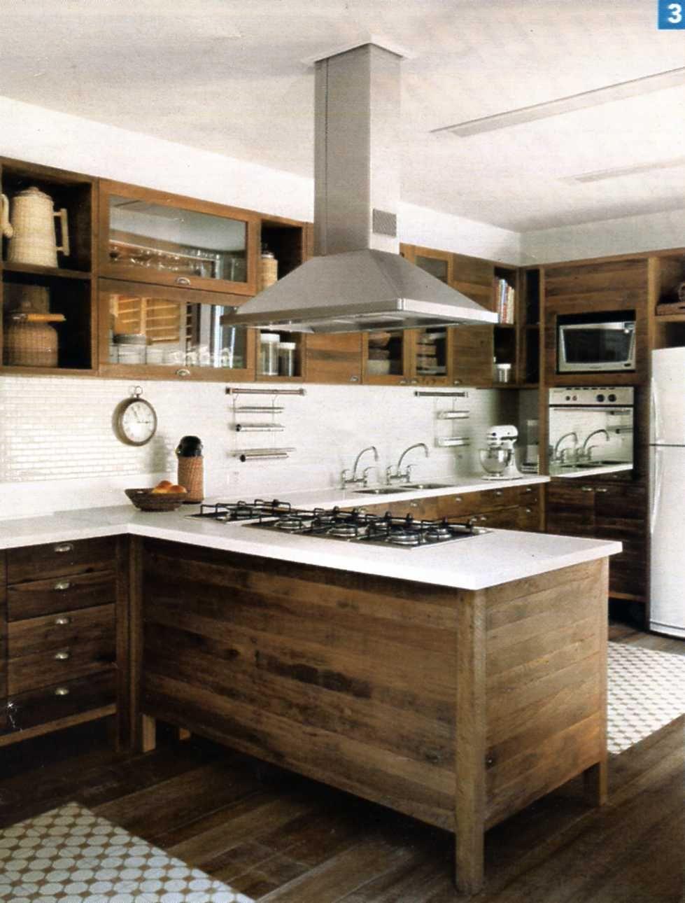 Modern Kitchen With Raw Wood Cabinets White Back Splash Stainless