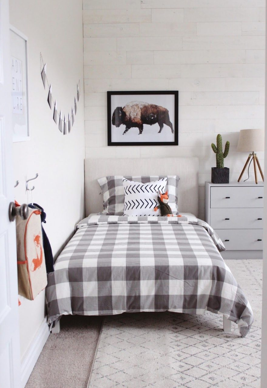 Modern Rustic Boys Bedroom One Room Challenge The Reveal In 2019