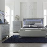 Modern Silver Grey Bedroom Bedroom Grey Bedroom Furniture King