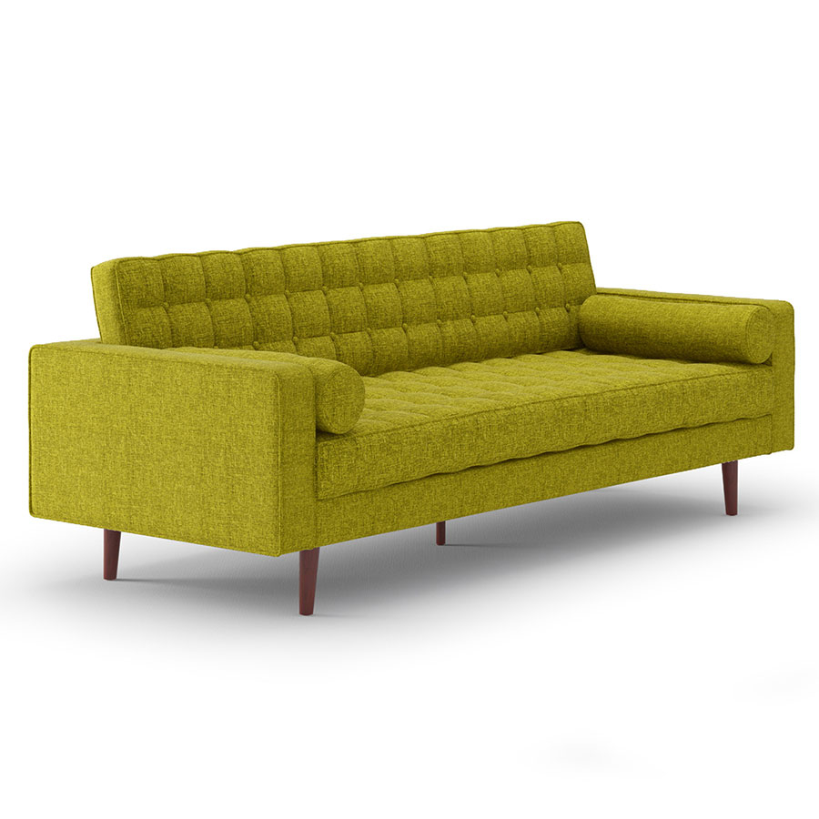 Modern Sofas Lebron Green Fabric Sofa Eurway
