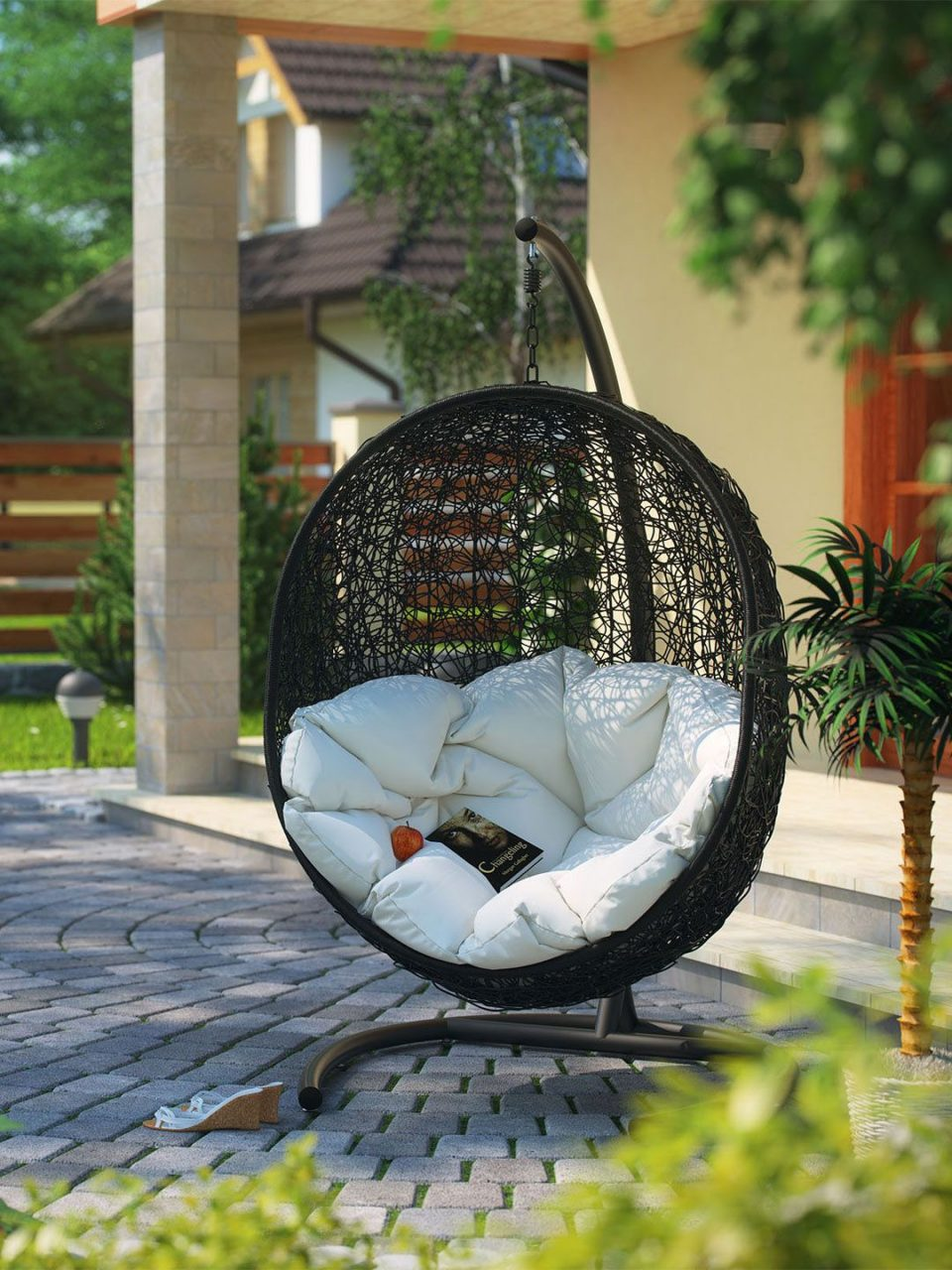 Modway Outdoor Cocoon Patio Swing Chair Swingchair Swing Chair