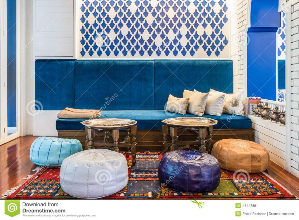 Moroccan Style Living Room Stock Image Image Of Lounge 43447891