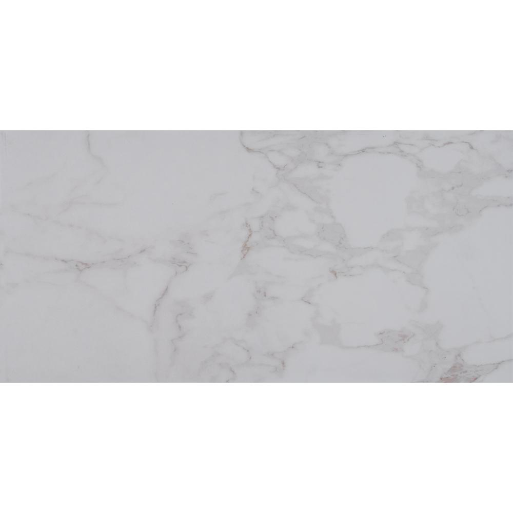 Msi Carrara 12 In X 24 In Polished Porcelain Floor And Wall Tile