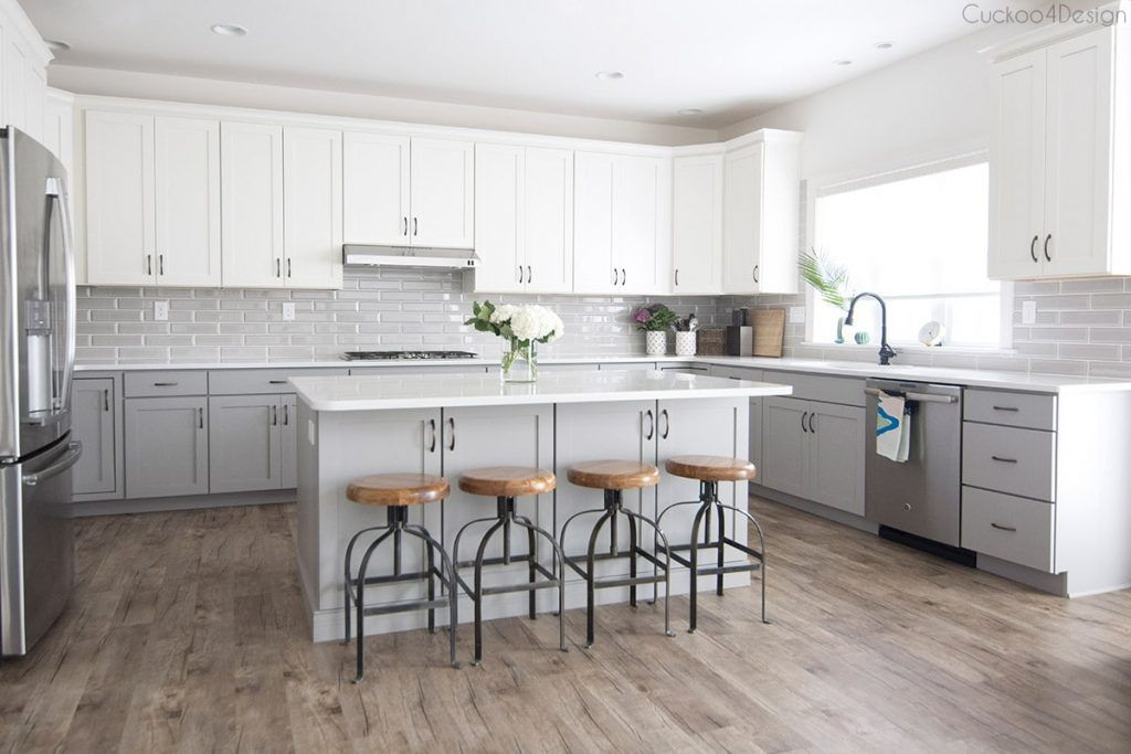 My Friends Gorgeous Gray And White Kitchen Cuckoo4design