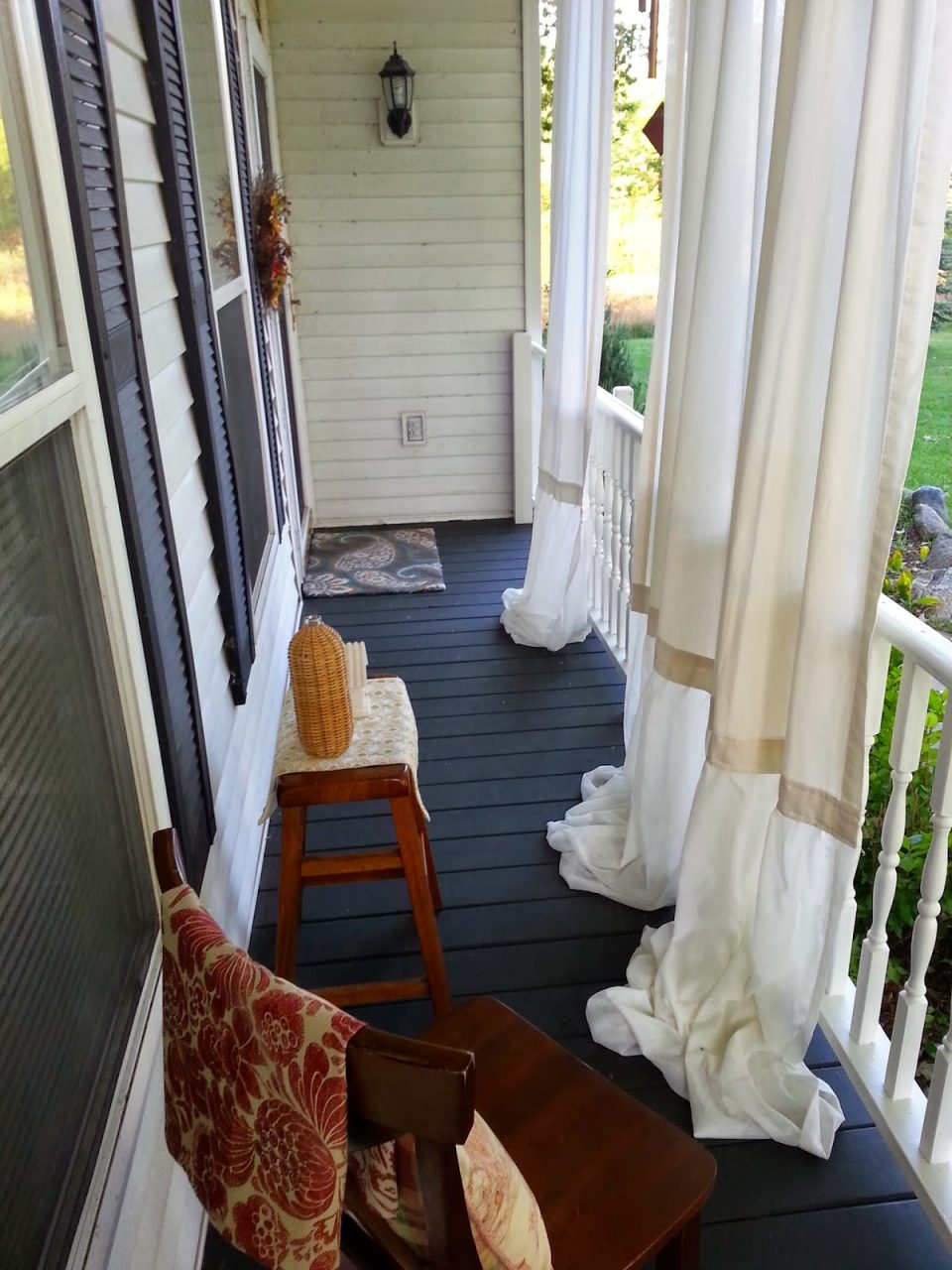 My Front Porch Makeover For Under 100with Curtains Simple