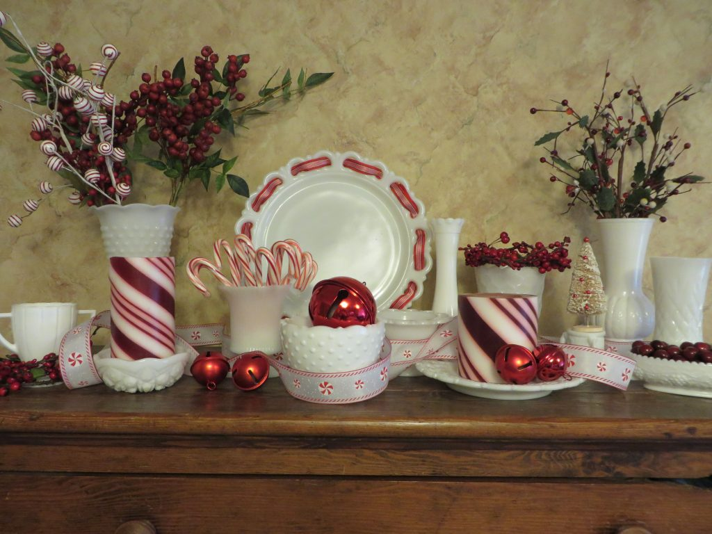 My Red And White Milk Glass Christmas Decoration 2013 Christmas In