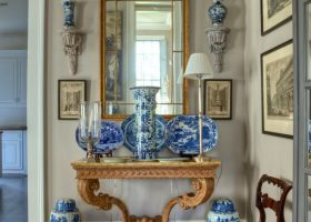 Blue and White Chinoiserie Bedroom