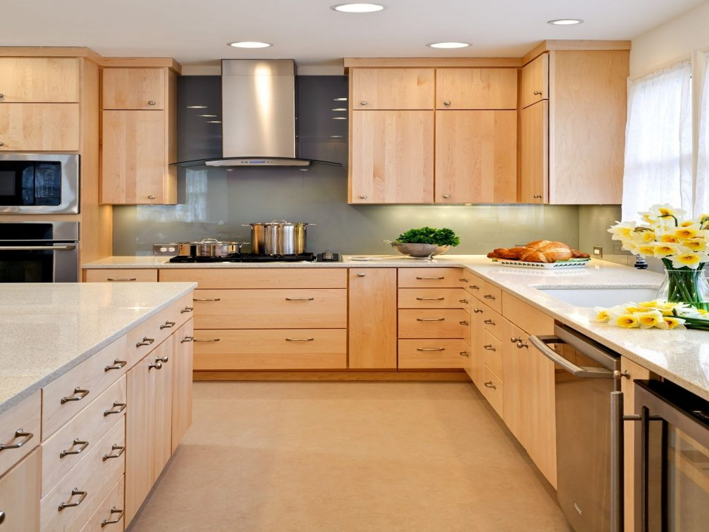 Natural Maple Kitchen Cabinets Design Inspiration 194838 Wood