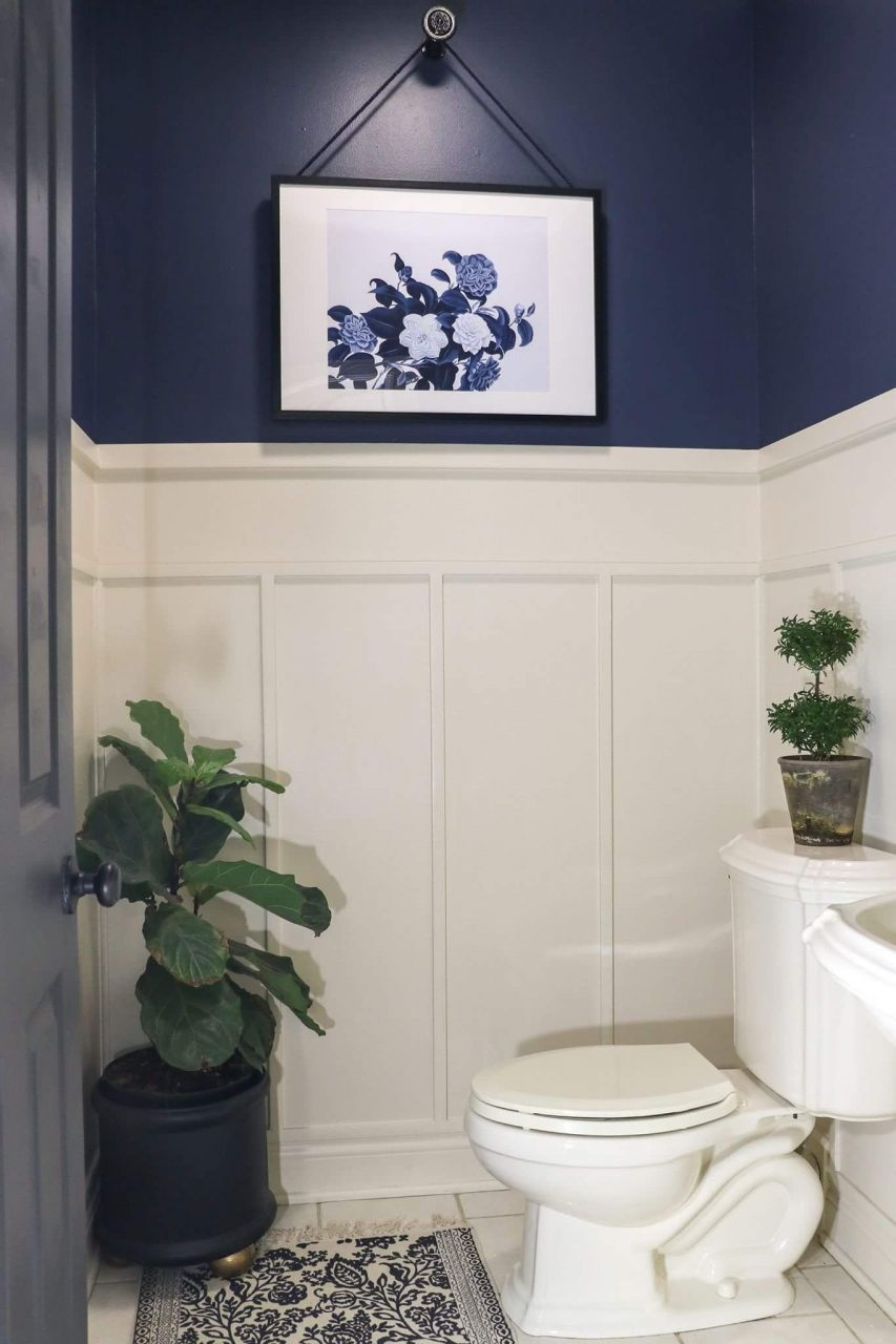 Navy Blue And White Bathroom Bathroom In 2019 Navy Bathroom