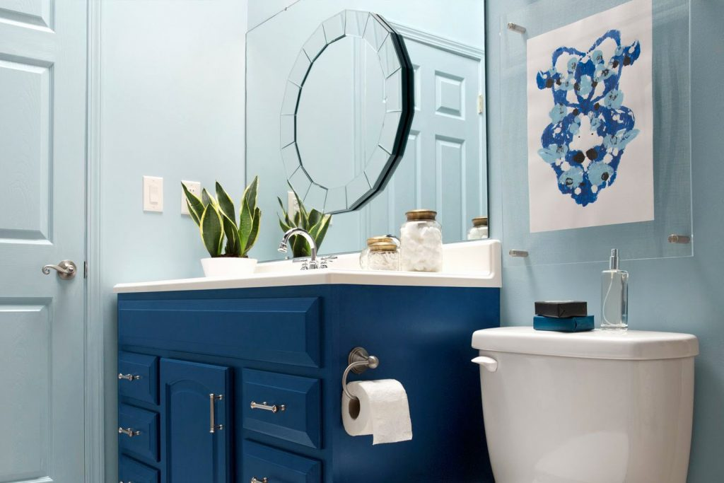 Navy Blue And White Bathroom Luxury 21 Small Bathroom Decorating