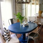 Navy and White Dining Room Tables