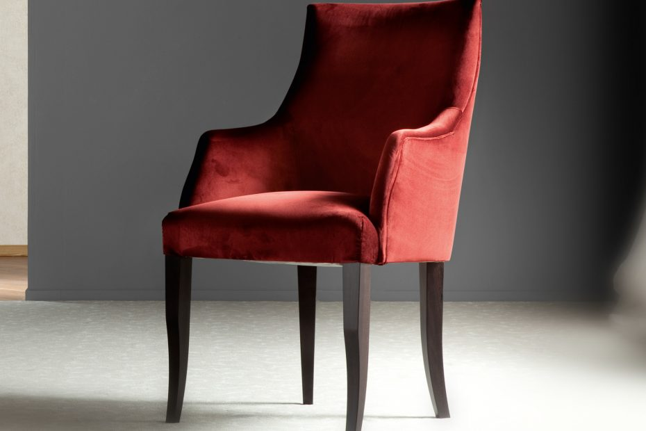 Nella Vetrina Costantini Sunset 1277 Italian Arm Chair In Red