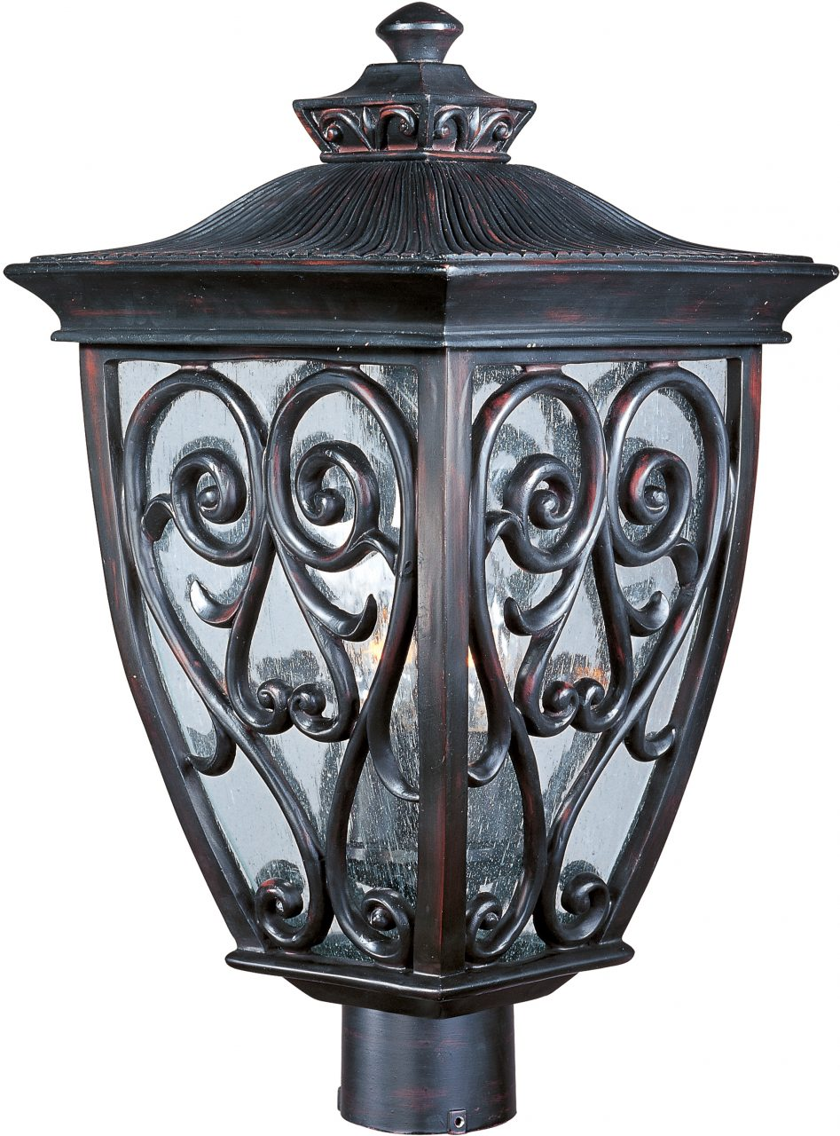 Newbury Vx 3 Light Outdoor Polepost Lantern Outdoor Maxim Lighting