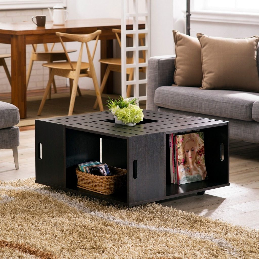 Nice Look Square Coffee Table Chris Style