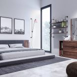 Nova Domus Jagger Modern Dark Grey Walnut Bedroom Set Modern