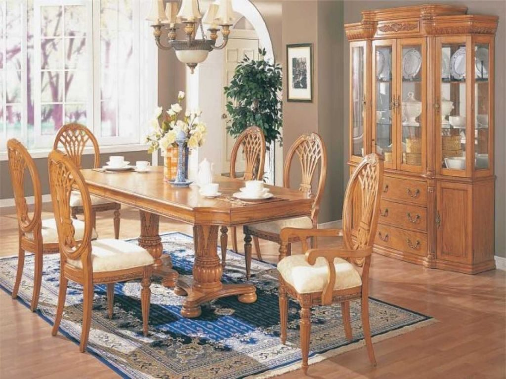Oak Dining Room Sets With Hutch House Craft Design