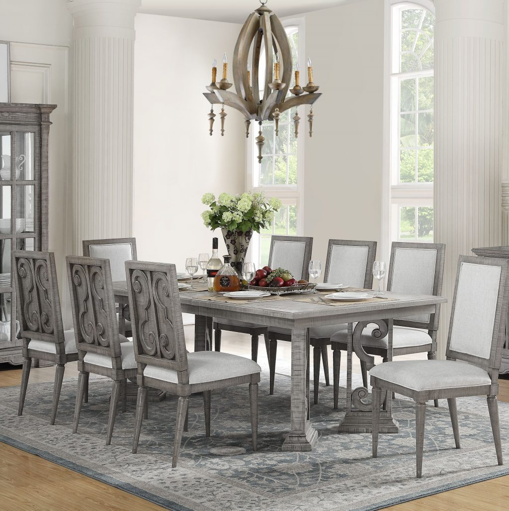One Allium Way Candice 9 Piece Extendable Dining Set Wayfair