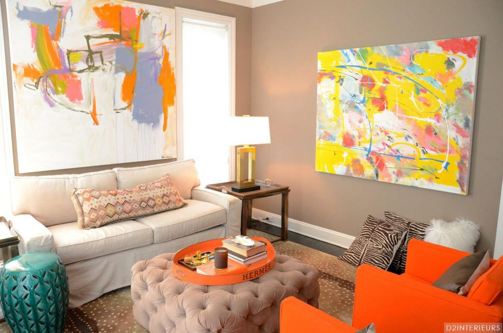 Orange Living Room Ideas For Currentyear Regarding And Grey Designs
