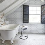 White Subway Tile Bathroom Floor