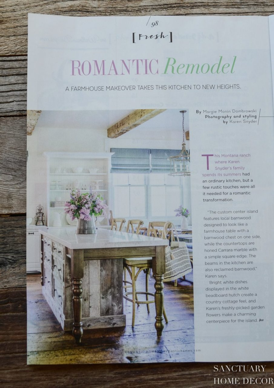 Our House In Romantic Homes Magazine Sanctuary Home Decor