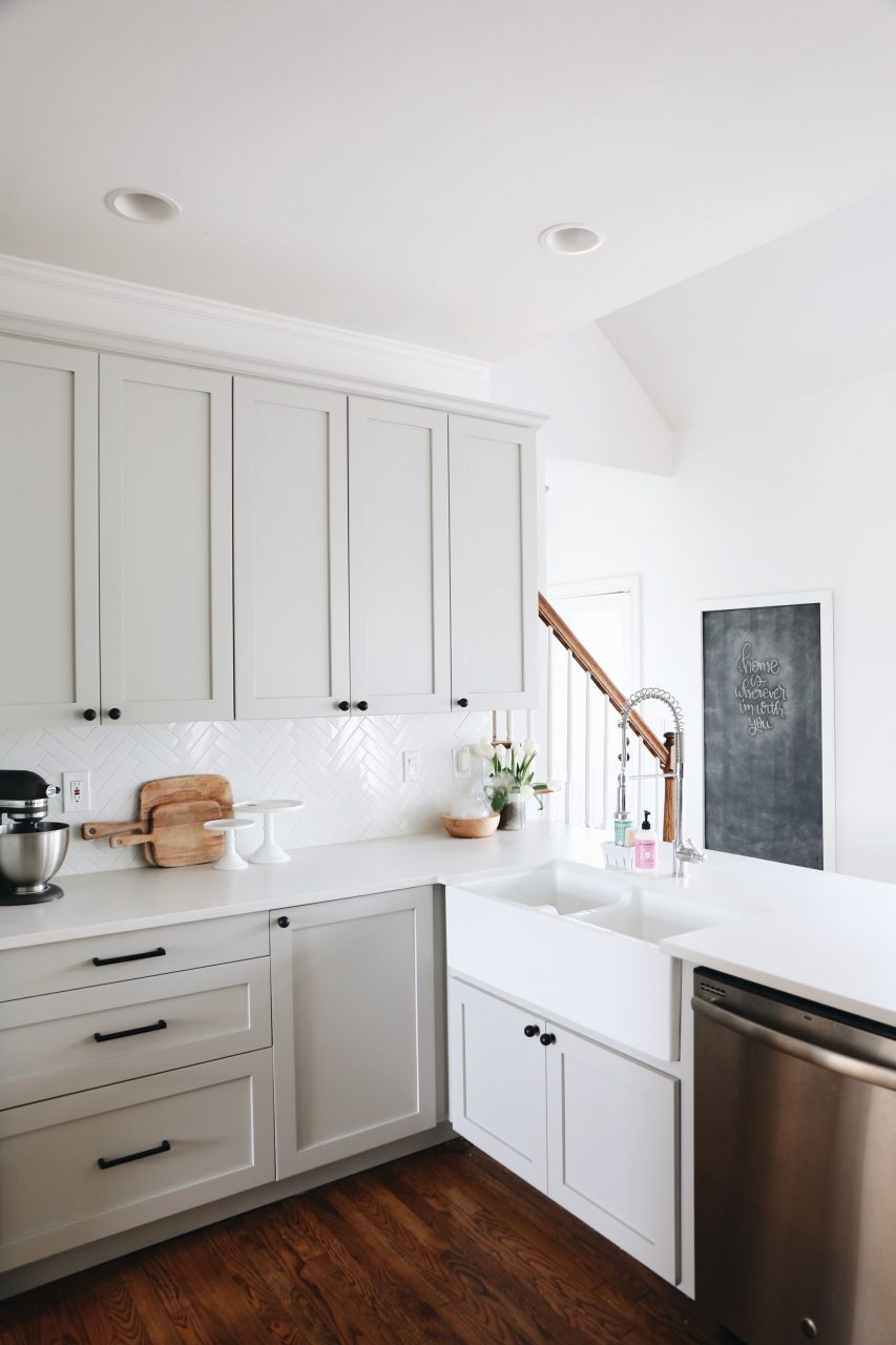 Our Kitchen Renovation Details Feels Like Home Grey Kitchen
