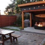 Our Outdoor Room And Small Yard After Corrugated Metal Roof