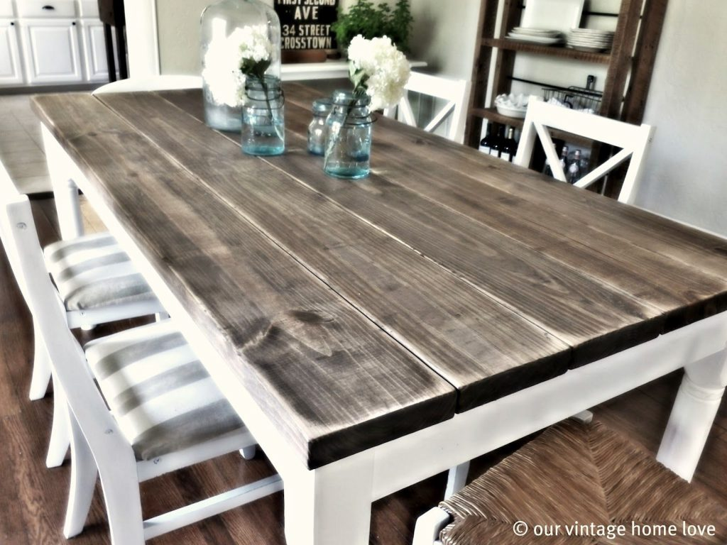 Our Vintage Home Love Dining Room Table Tutorial I Want This For An