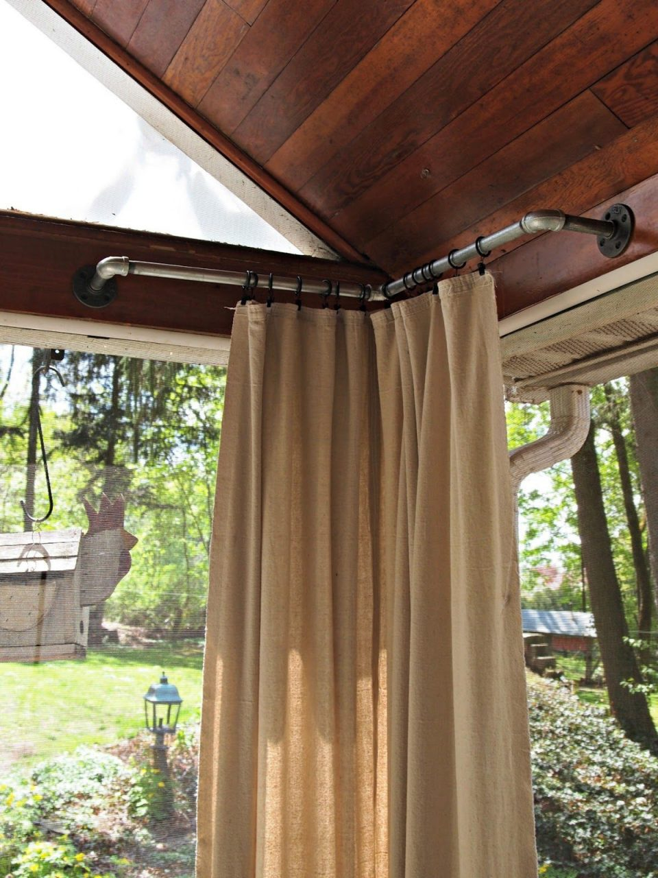 Outdoor Curtains My Home Design Veranda Vorhnge Pavillon
